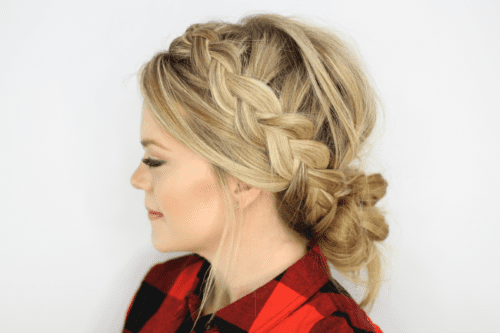 Messy Bun Braid Updo