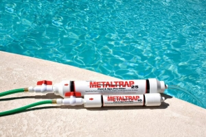 cans that remove metals in pool water