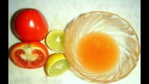 vinegar tomato lemon juice and fruits