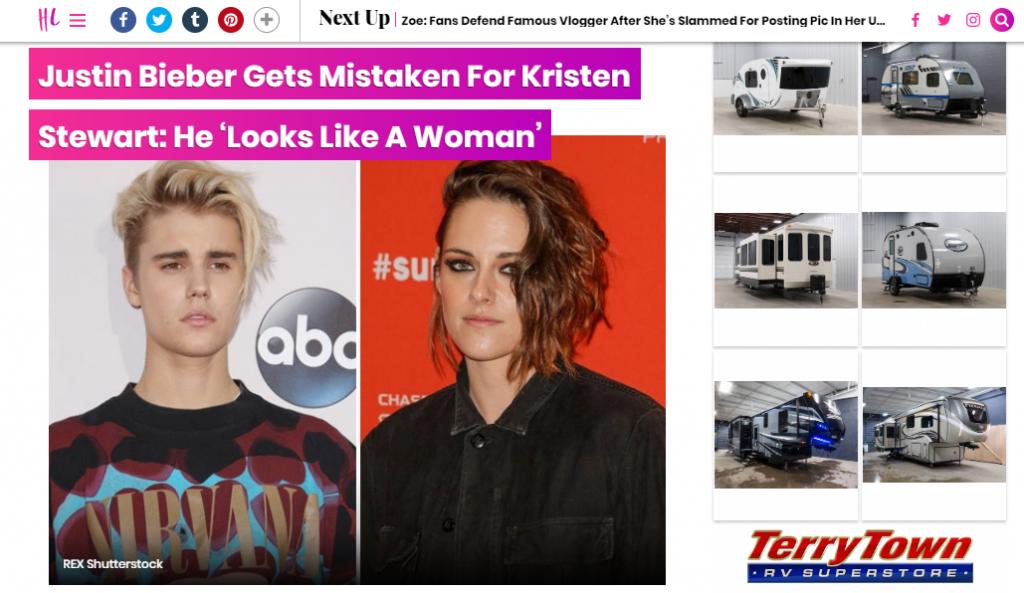 Justin Bieber & Kristen Stewart