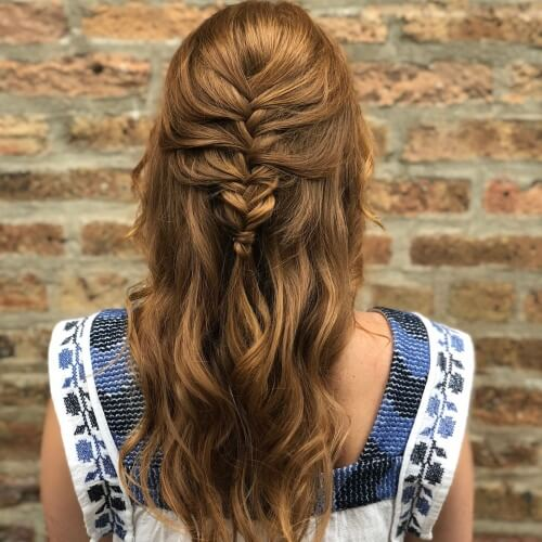 Back to School Half Up Hairstyles