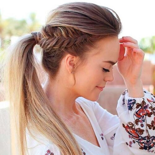 Braid into Ponytail Summer Hairstyles