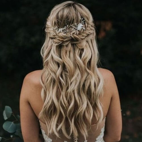 Bridal Half Up Half Down Braid Hairstyles