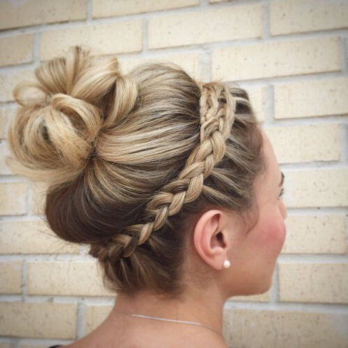 Crown Braid Bun