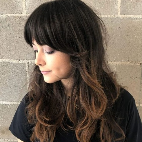 Curtain Bangs Layered Haircuts for Long Hair