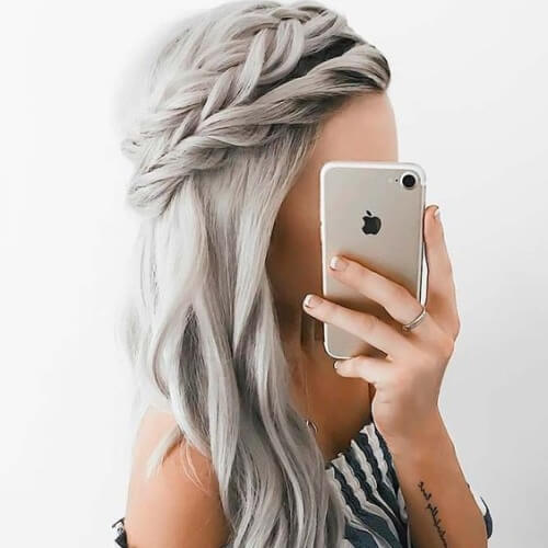 Double Halo Braid Hairstyles