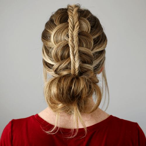 Dutch Fishtail Braid Bun