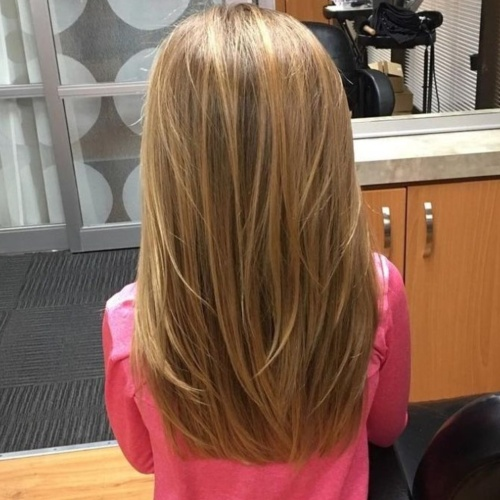 Girls' Layered Haircuts for Long Hair
