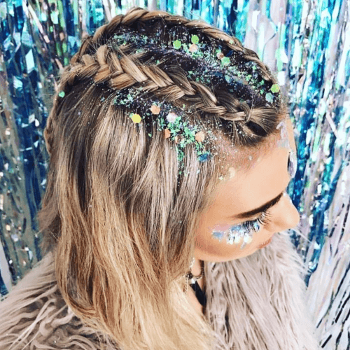 Glittery Half Up Hairstyles