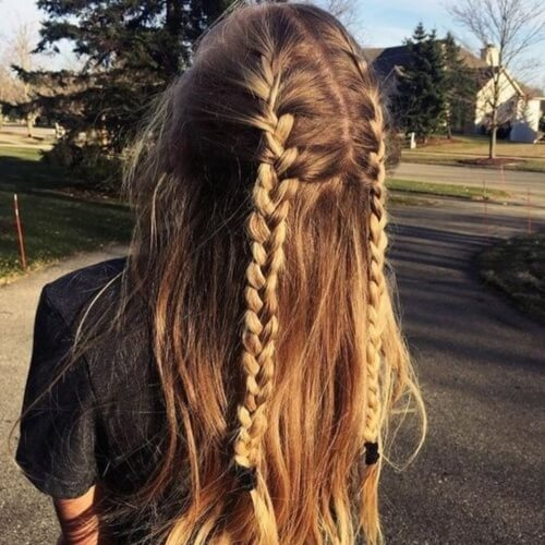 Half Up Braided Summer Hairstyles for Long Hair