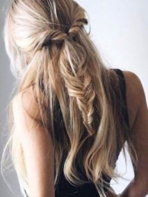 Half Up Easy Fishtail Braid