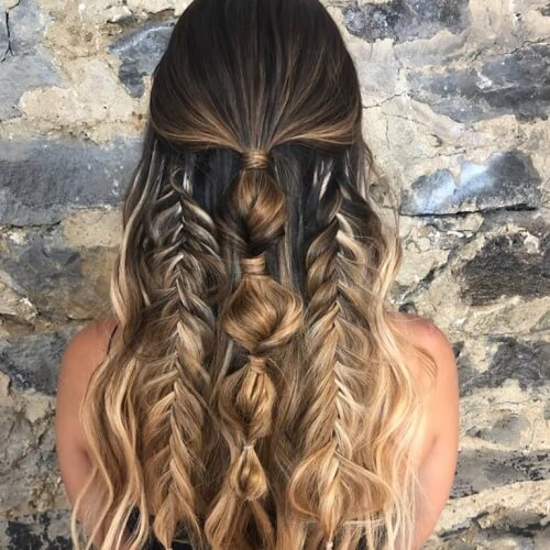 Half Up Triple Braid Hairstyles