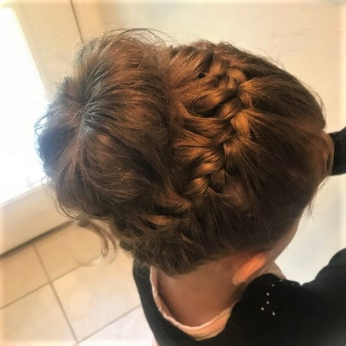 Horizontal French Braid Bun