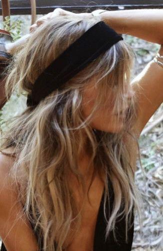long bohemian hairstyle
