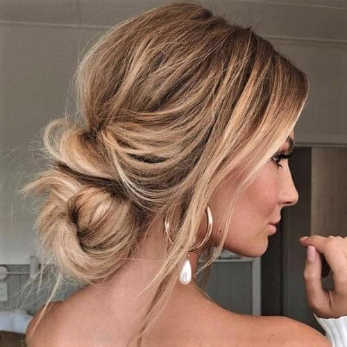 Low Messy Bun for Long Hair