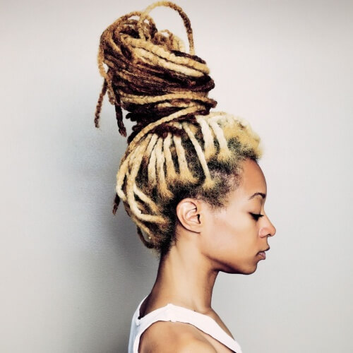Messy Dreadlocks Bun
