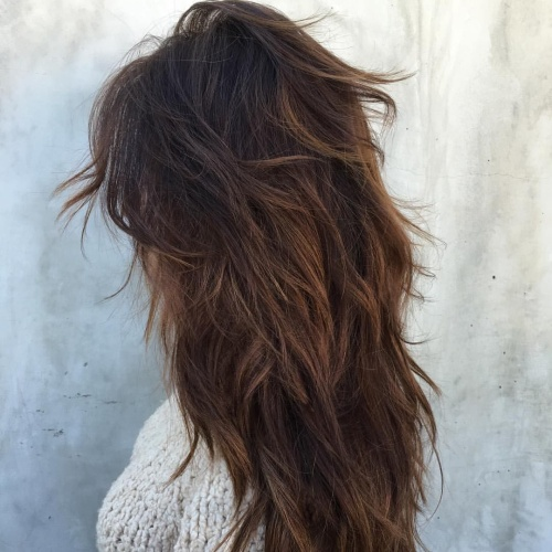 Messy Long Layered Haircuts for Thick Hair