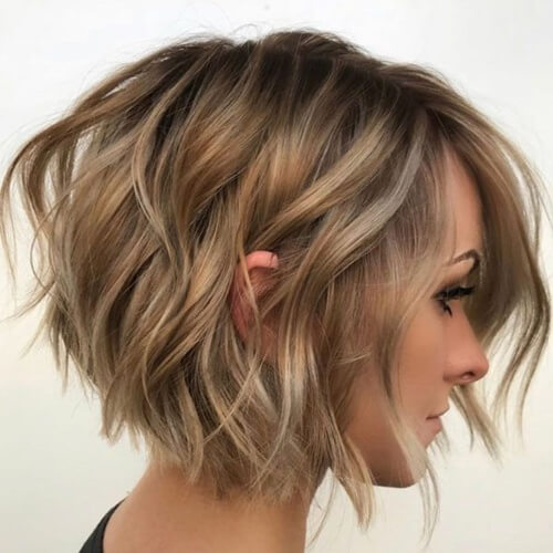 Messy Short Inverted Bob