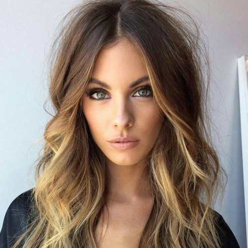Middle Part Layered Haircuts for Long Hair