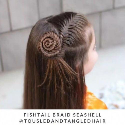 Partial Fishtail Shell Braid