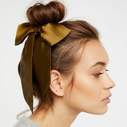 Ribbon Bun Summertime Hairstyles