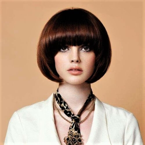 Rounded Bangs and Bob
