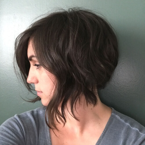 Short Inverted Bob with Longer Front