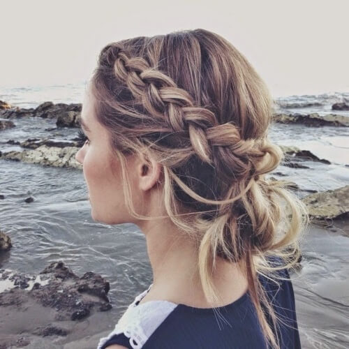 Side Braid with Bun