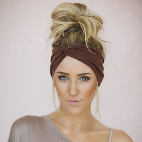 Twist Turban Headband Bun