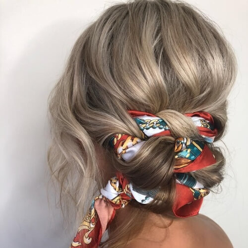 Twisted Scarf Buns