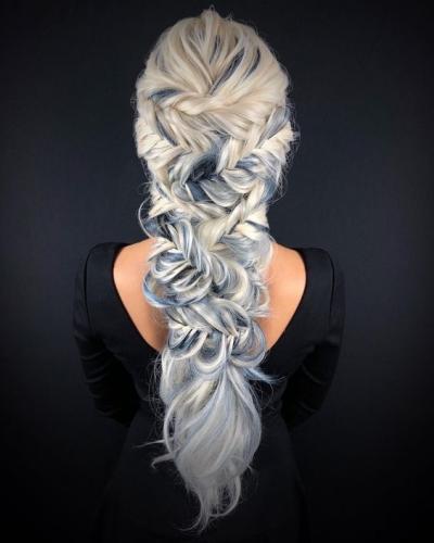 Zig Zag Fishtail Hairstyle