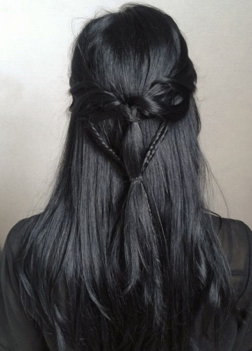 charcoal dark grey hair