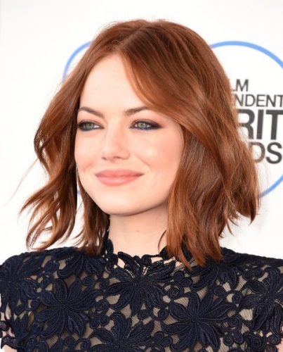 emma stone beach brown hair