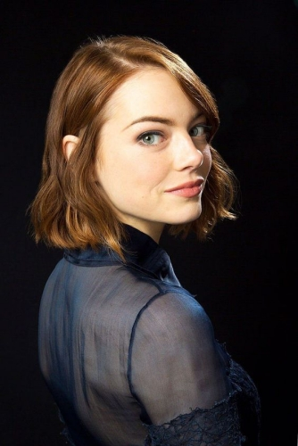 emma stone hollywood bob