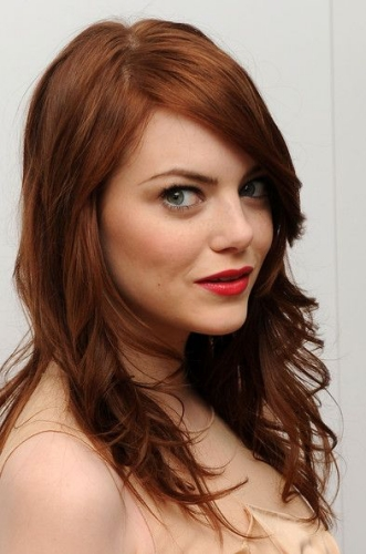 emma stone long and light hair