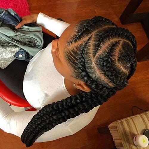 feed in goddess braids