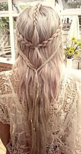 multi braids boho style