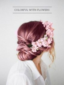 strawberry blonde boho crown updo
