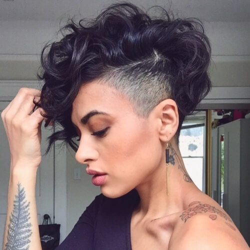 Razor Pixie Cuts with Long Bangs
