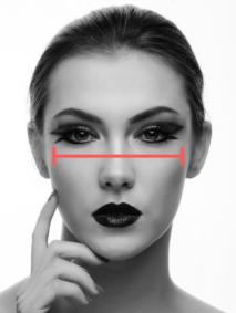 cheekbone width