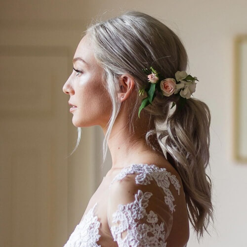 Boho Wedding Ponytail Hairstyles