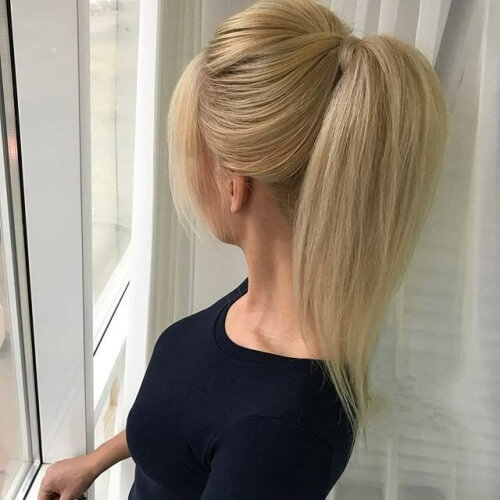 Bouffant High Ponytail Hairstyles