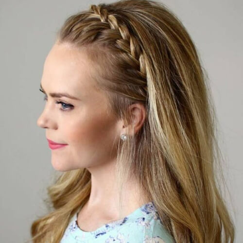 Braided Headband Straight Hairstyles