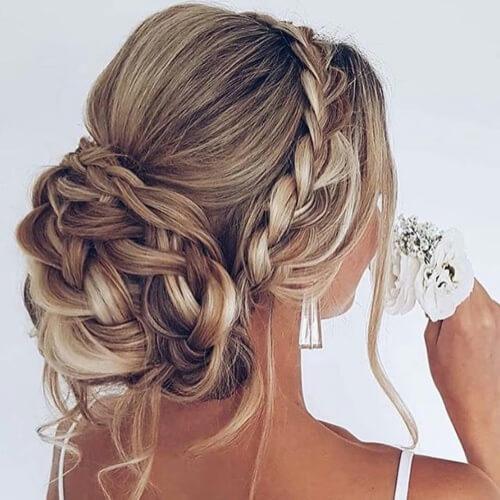 Braided Updo Long Straight Hairstyles