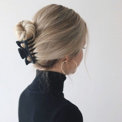 Casual Updo Straight Hairstyles