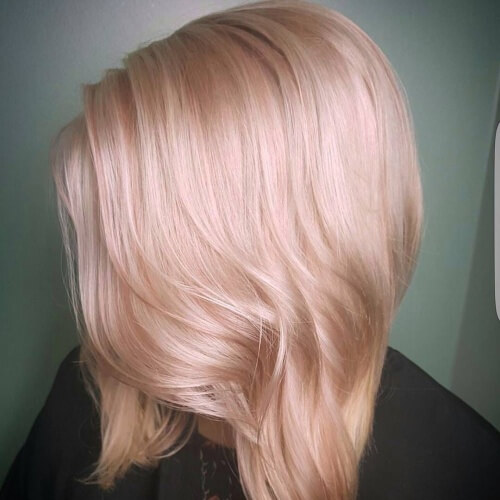 Champagne Pink Pastel Hair Color Ideas