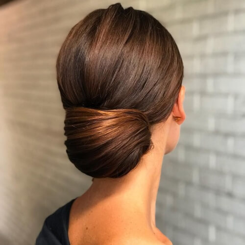 Chignon Hairstyles for Straight Hair