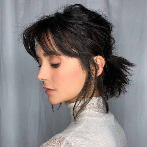 Choppy Short Ponytail Hairstyles