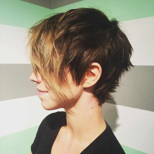 Choppy Short Straight Hairstyles