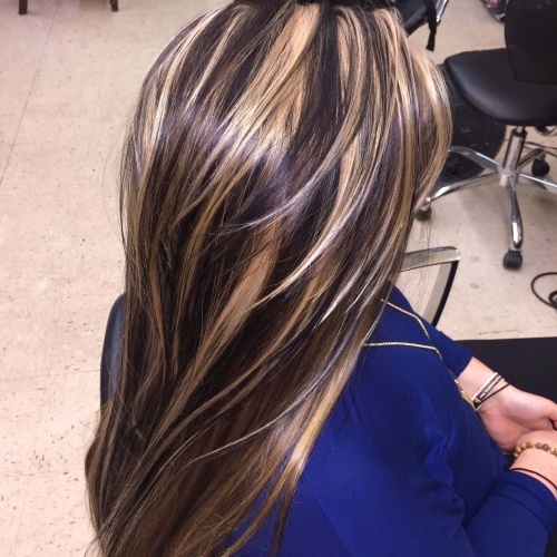 Chunky Highlights for Straight Hair